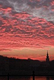 zachód słońca w budapeszcie