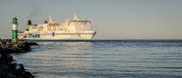 statek na morzu bałtyckim